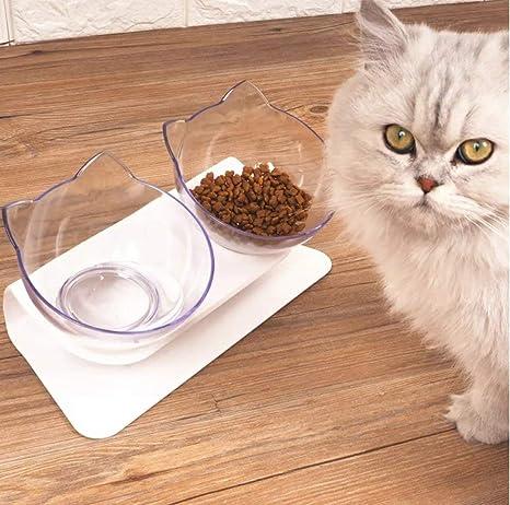 Laifug - Cuenco para Gatos (Transparente)