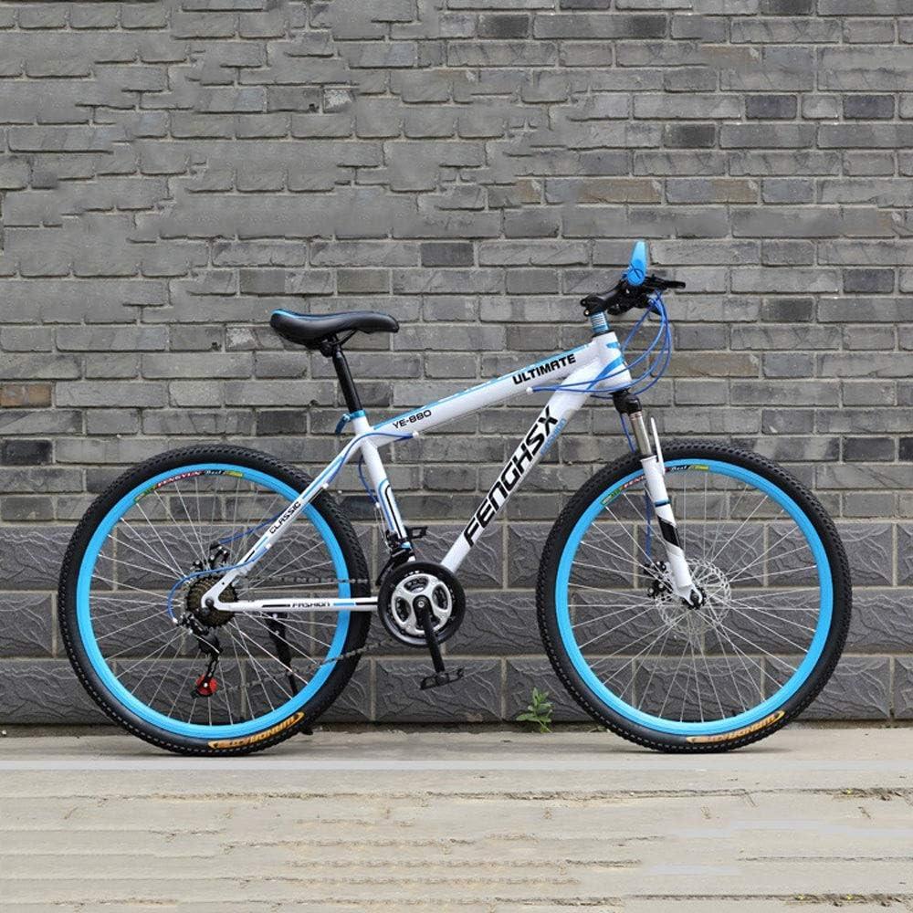 YXWJ 24 pulgadas / 26 pulgadas de las bicis de doble freno de disco for hombre de la bicicleta de montaña Playa Mujeres motos de nieve de bicicletas de aleación de aluminio de montaña bicicleta de pis