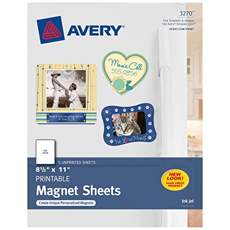 image regarding Printable Magnetic Paper named : Avery Magnet Sheets, 8.5 x 11 Inches, White