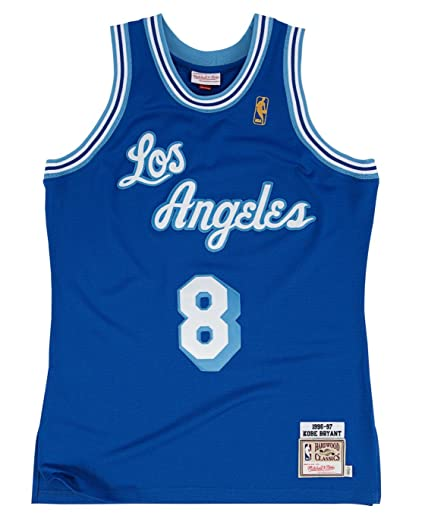 439a9be5bdc NBA Los Angeles Lakers  8 Kobe Bryant Royal Blue 1996-97 Anniversary  Basketball Replica