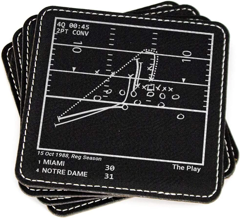 Greatest Notre Dame Football Plays - Leatherette Coasters (Set of 4)