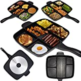 Master Pan Divided Frying Pan for All-in-One Cooked Breakfast & More! 32x38cm