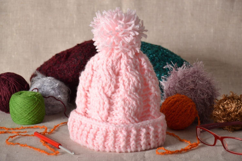 Gorro tejido a crochet rosa: Amazon.es: Hogar
