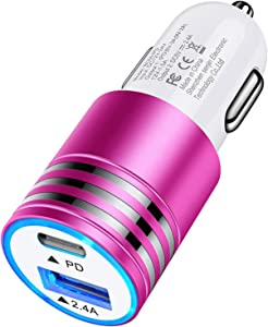 USB C Car Charger Fast Charging for iPhone 12 Mini/12 Pro Max/SE/11 Pro/XR/XS/X/8, Samsung Galaxy S20 FE S10 Note 20 Ultra A10E A20 A21 A50 A51 A71, Google Pixel 5 4a 5G, 30W Type C PD 3.0 Car Adapter