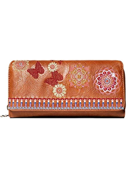 Desigual Cartera Mujer Chandy Maria Marrón U: Amazon.es ...