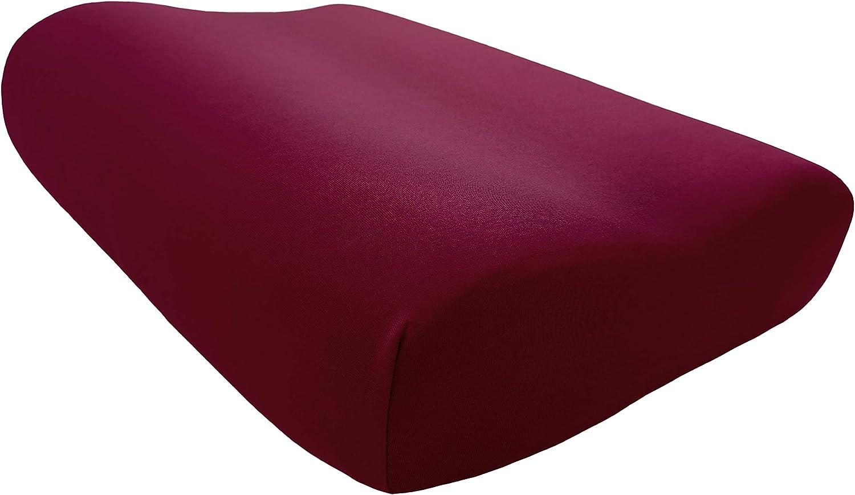 bordeaux 100 /% coton Disponible dans de nombreuses couleurs 50 x 30 cm 50 x 31 cm 50 x 31 cm EddaLux Housse de coussin en jersey de qualit/é sup/érieure pour coussin de nuque