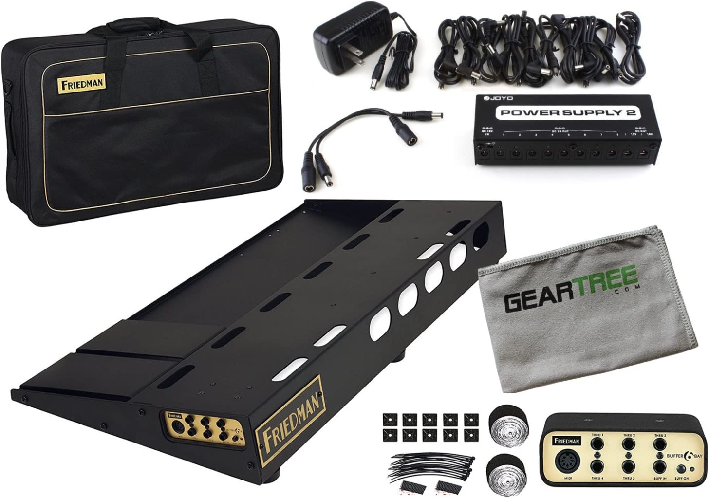 Friedman Tour Pro 1530 15'' x 30'' Pedal Board with Buffer Bay, Bag, Accessories
