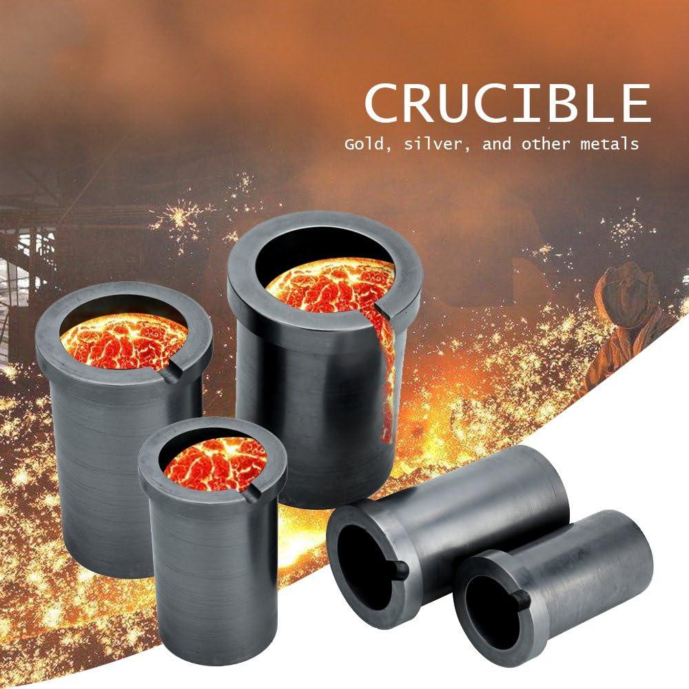 KKmoon Creuset de graphite de fusion de haute puret/é pour les outils de fusion /à haute temp/érature dor et dargent