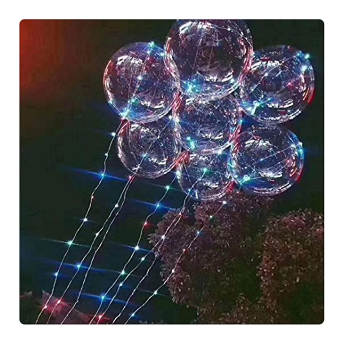 FTXJ 20 inches Fully Inflated Bubble Balloon LED String Lights, RGB Multi-Colors Bubble Lights for Party, Birthday, Fillable with Helium and 72hours Working Time-Multi (20 inches, Multicolor)