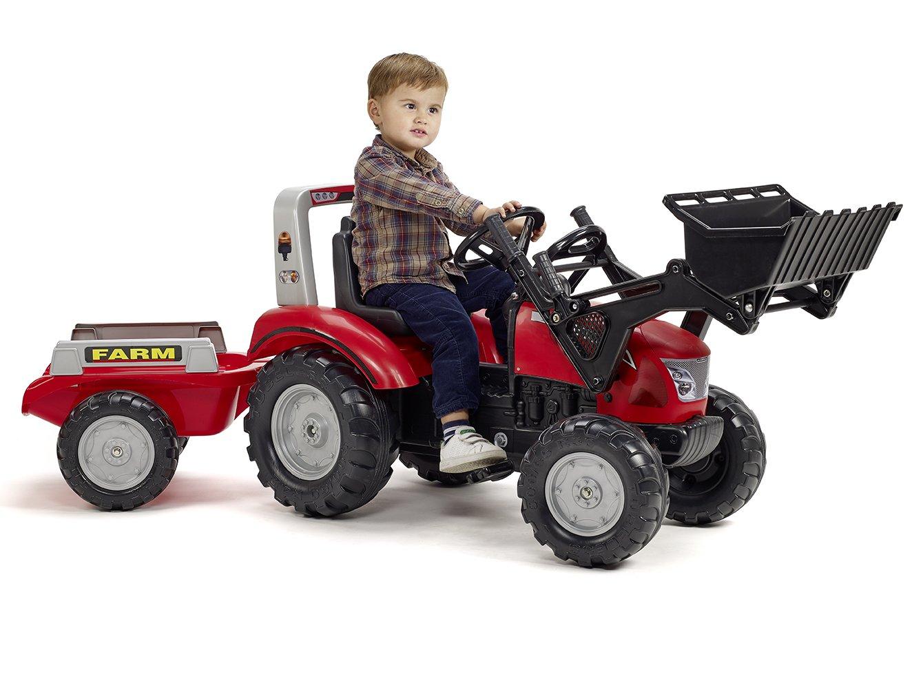 Falk - 3020 Am - Tractor Mac Cormick X, 7 + Remolque: Amazon.es: Juguetes y juegos