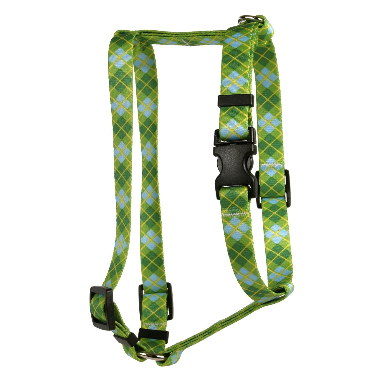 Yellow Dog Design Argyle Green Roman Style H Dog Harness Fits Chest Circumference of 8 to 14'', X-Small/3/8