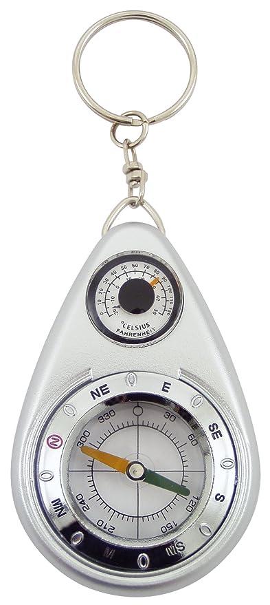 Générique Llavero brújula con termómetro, plástico, Gris, 4 ...