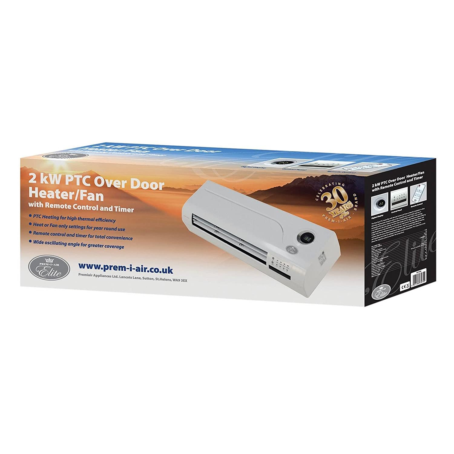 Elegant PTC Over Door Heater And Cold Air Fan   Remote Control With LED Display:  Amazon.co.uk: Large Appliances