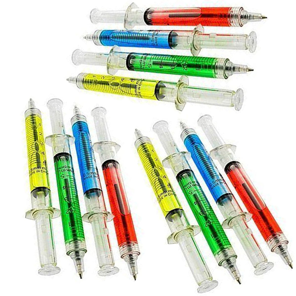 Syringe Pens in Assorted Colors - Pack of 12 - Party Favors