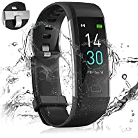 24HOCL Smart Watch Fitness Tracker, Fitness Bracelet with Temperature Measurement Heart Rate Sleep Monitor, Waterproof…