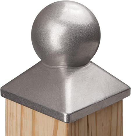 """Cast iron Ball Fence Finial Square Post Caps For 2 x 2/"""" Posts  6 Pieces"""
