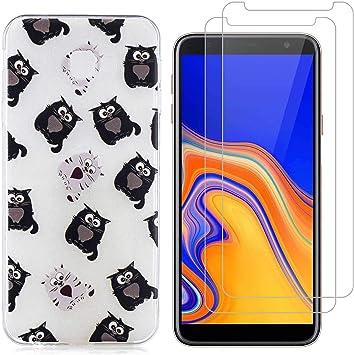jrester Funda Samsung Galaxy J4 Plus,Totoro Suave Transparente Silicona Smartphone Cascara Protectora para Samsung Galaxy J4 Plus (6,0