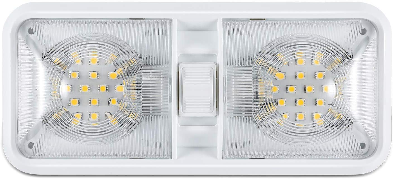 Kohree - Lámpara de LED para techo, iluminación interior para coche/RV/remolque/Camper/Barco DC 12V Blanco natural 4000–4500K 48x 5050SMD 1 pezzo