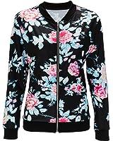 Doris Women's Lightweight Zip-Up Floral Print Bomber Jacket