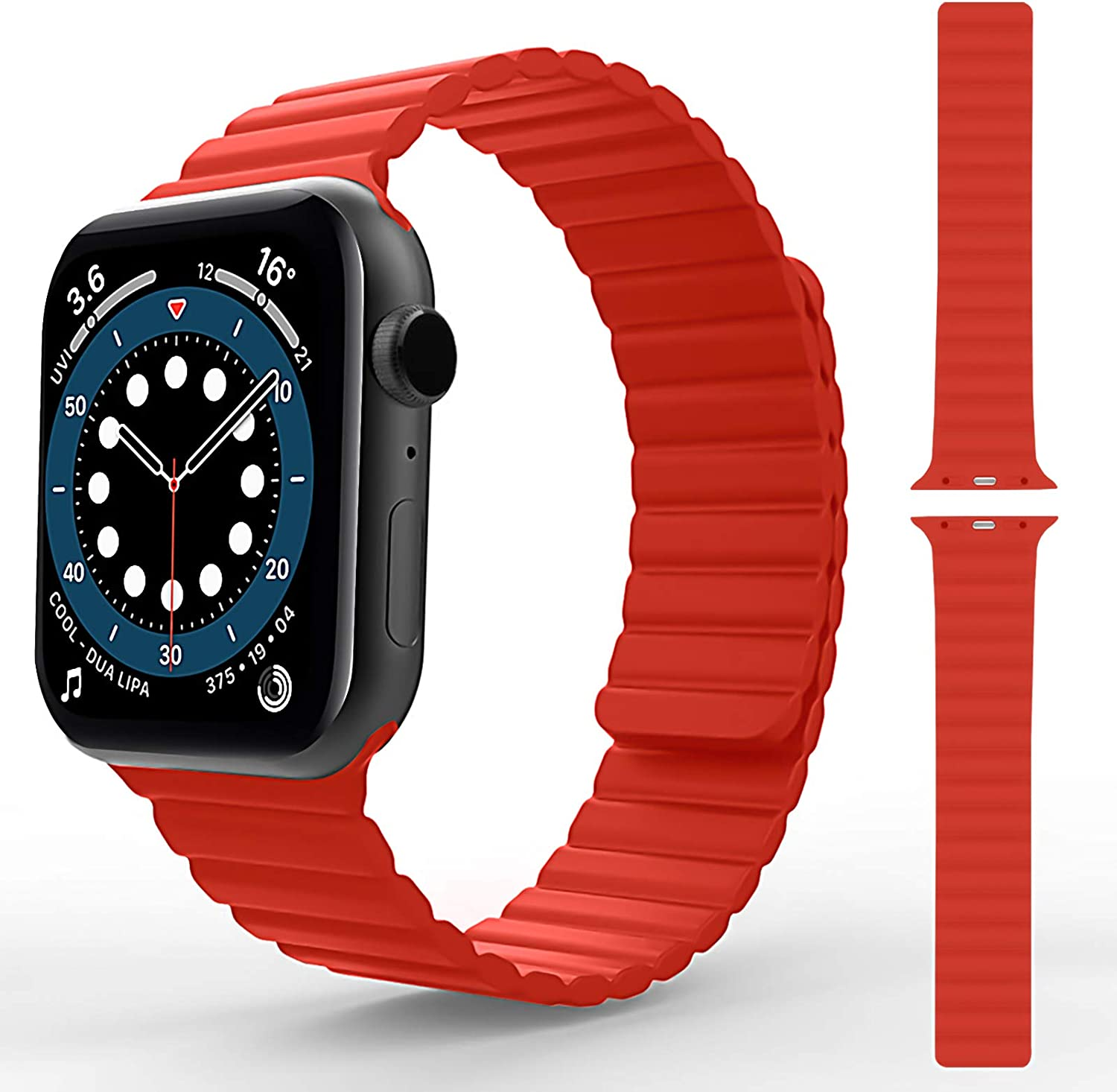 TOOVREN Magnetic Apple Watch Band 38mm 40mm 42 mm 44mm, Adjustable Silicone Apple Watch Bands Bracelet, Apple Watch Wristbands for Women Men iWatch Strap Series SE/6/5/4/3/2/1