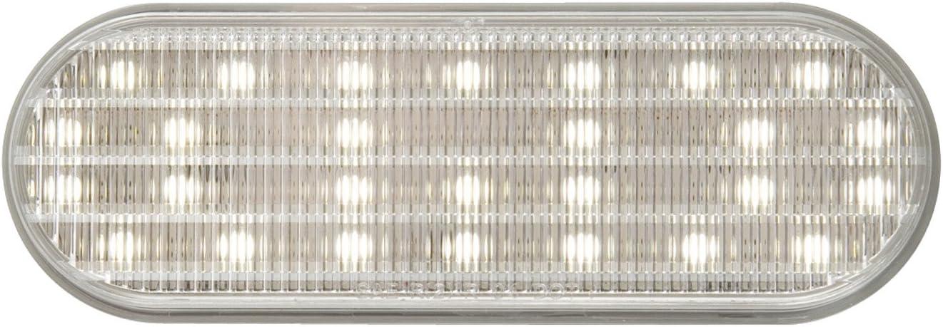 Optronics BUL22CBP 6 Oval Sealed Clear Dot LED Back-Up Light White