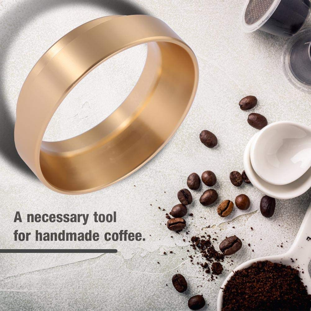 Espresso Dosing Funnel Replacement Aluminum Coffee Dosing Ring for 58mm Portafilters Coffee Tools Black