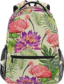 Sac à Dos Backpacks Tropical Flamingo and Exotic Flowers Student Backpack Big for Girls Kids Elementary Sac à Dos Shoulder Bag Bookbag