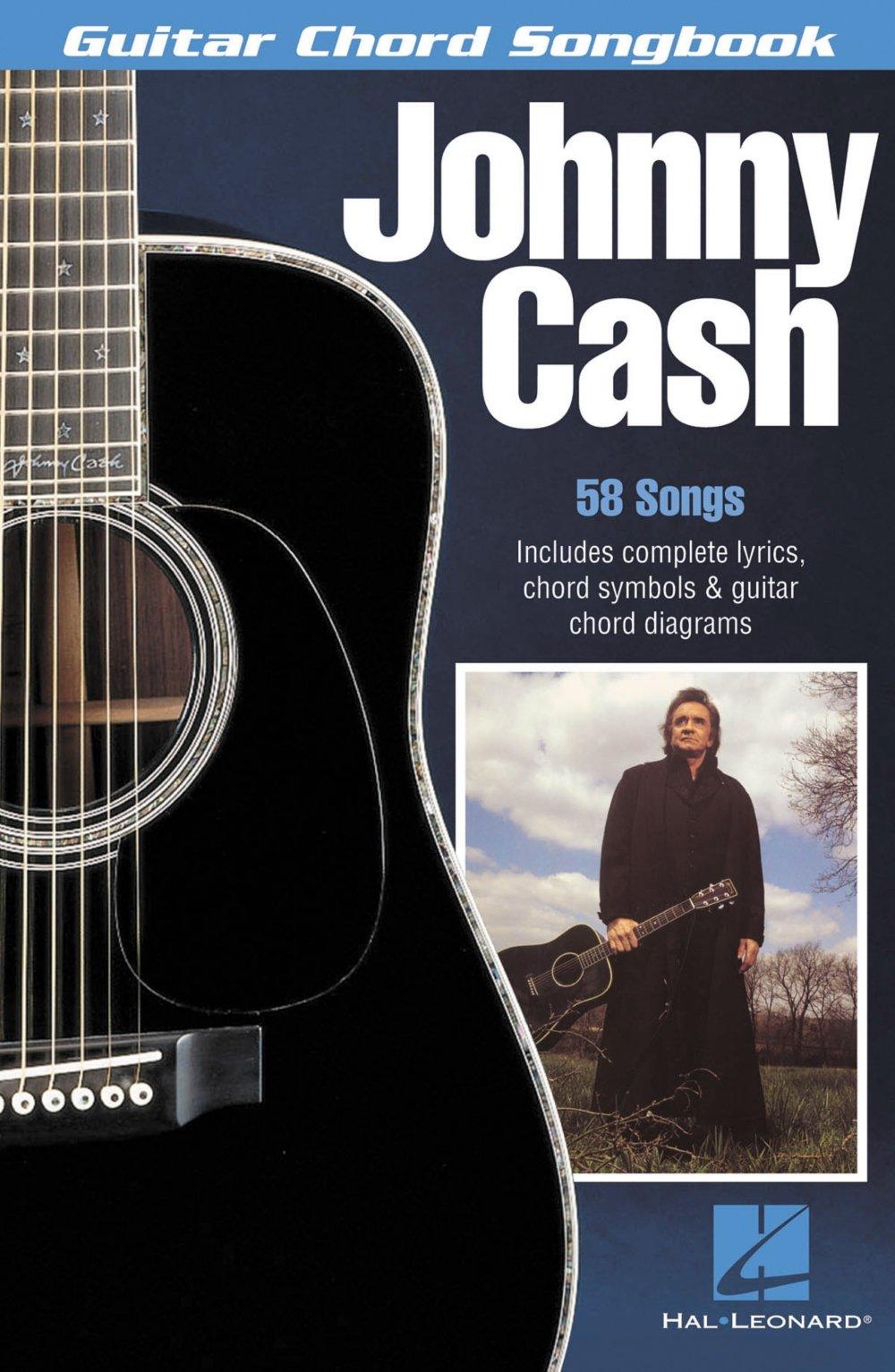 Amazon Hal Leonard Johnny Cash Guitar Chord Book 0073999996487