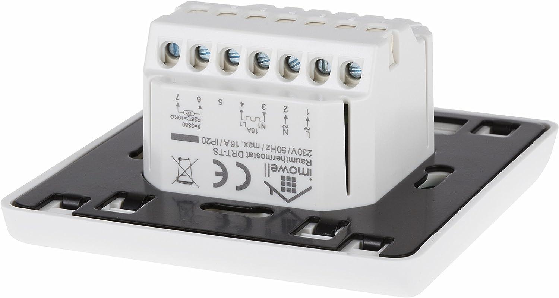 Digitales Fu/ßbodenthermostat DFT-TS mit Touchscreen und Bodenf/ühler f/ür elektrische Fu/ßbodenheizungen