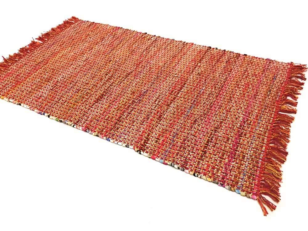 Second Nature Online Spesso Cotone Punto Croce Rosso Tappeto 150cm x 240cm