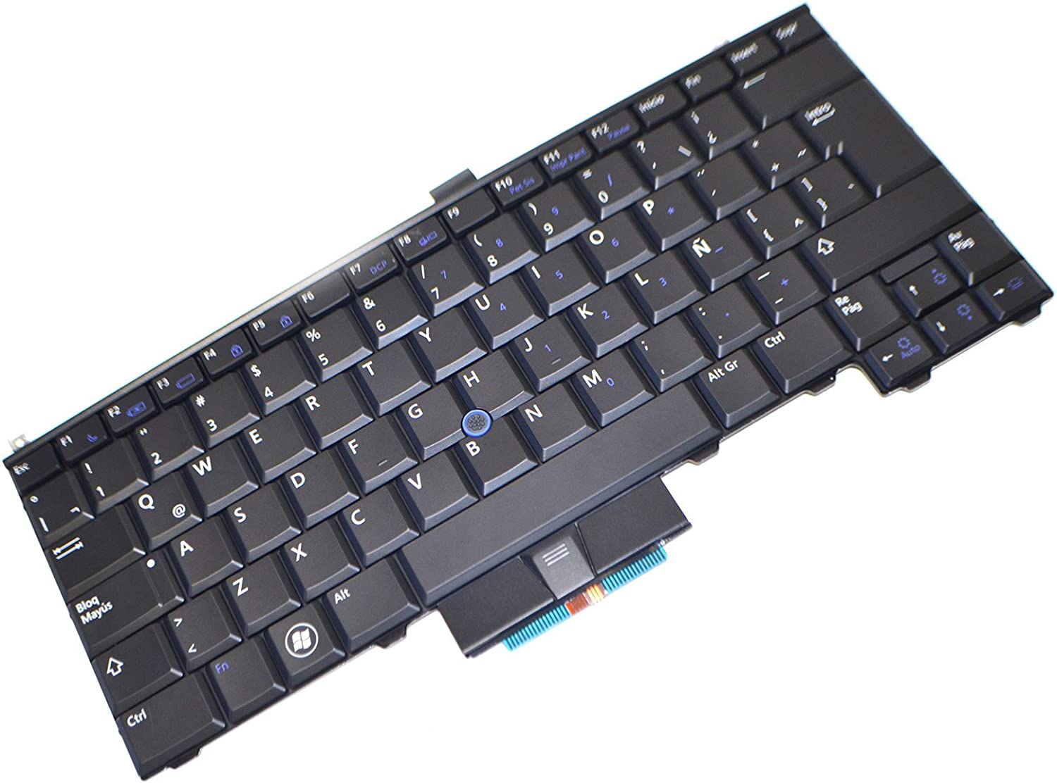 Dell 3J8GT New OEM Latitude E4310 Laptop Notebook Backlit Spanish Latin 84 Keys Stroke Keypad Typing Board Mouse Pointer Model NSK-DS0BC Teclado Keyboard PK130AW2B24