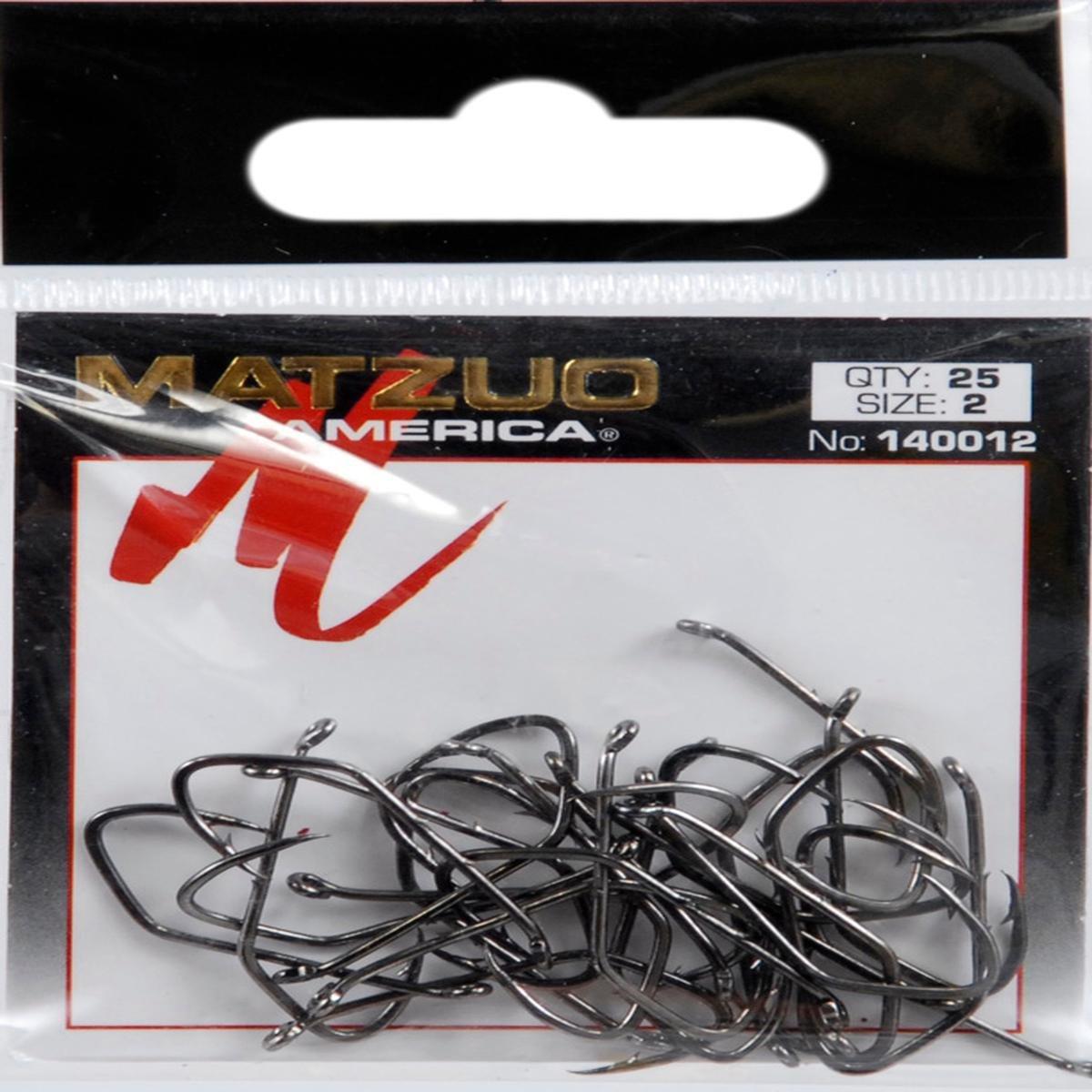 Matzuo鎌BaitholderオフセットDown Eyeフック、ブラッククローム、2   B002QFU5KC