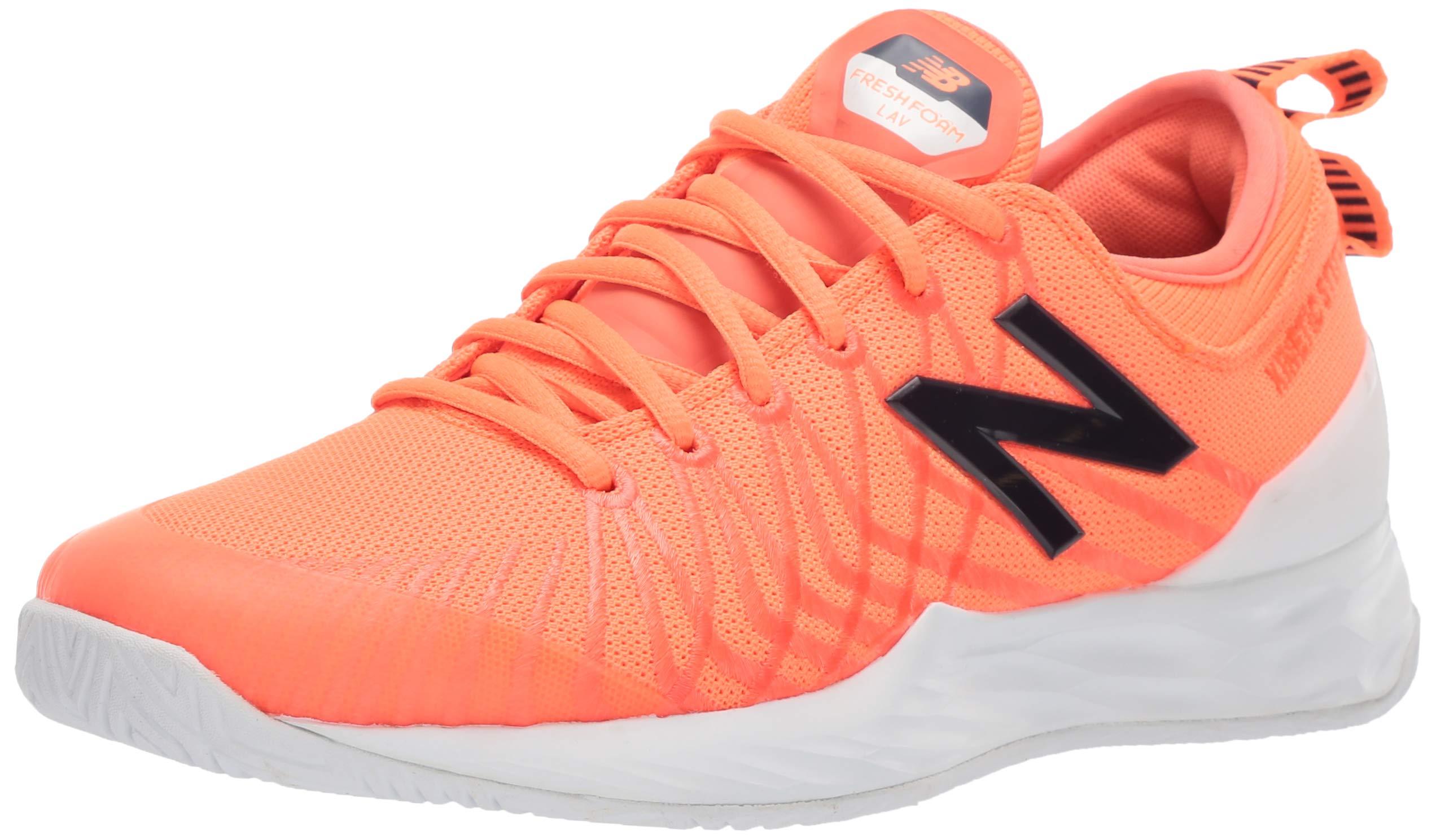 New Balance Men's LAV V1 Hard Court Tennis Shoe, Dark Mango/Cyclone, 5 D US