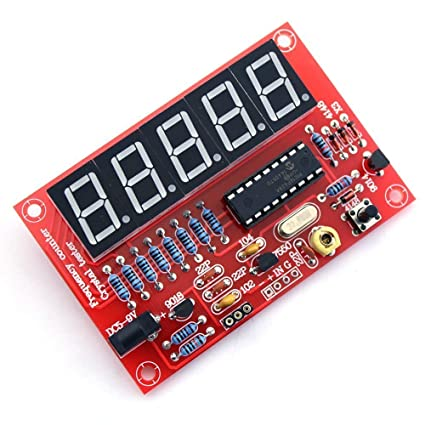 2017 1hz-50mhz Digital Led Crystal Oscillator Frequency Counter Tester Diy Kit 5 Digits Resolution Frequency Meters Digital Red Last Style Active Components