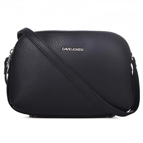 david jones synthetic leather multi pocket cross body purse bag rh amazon ca