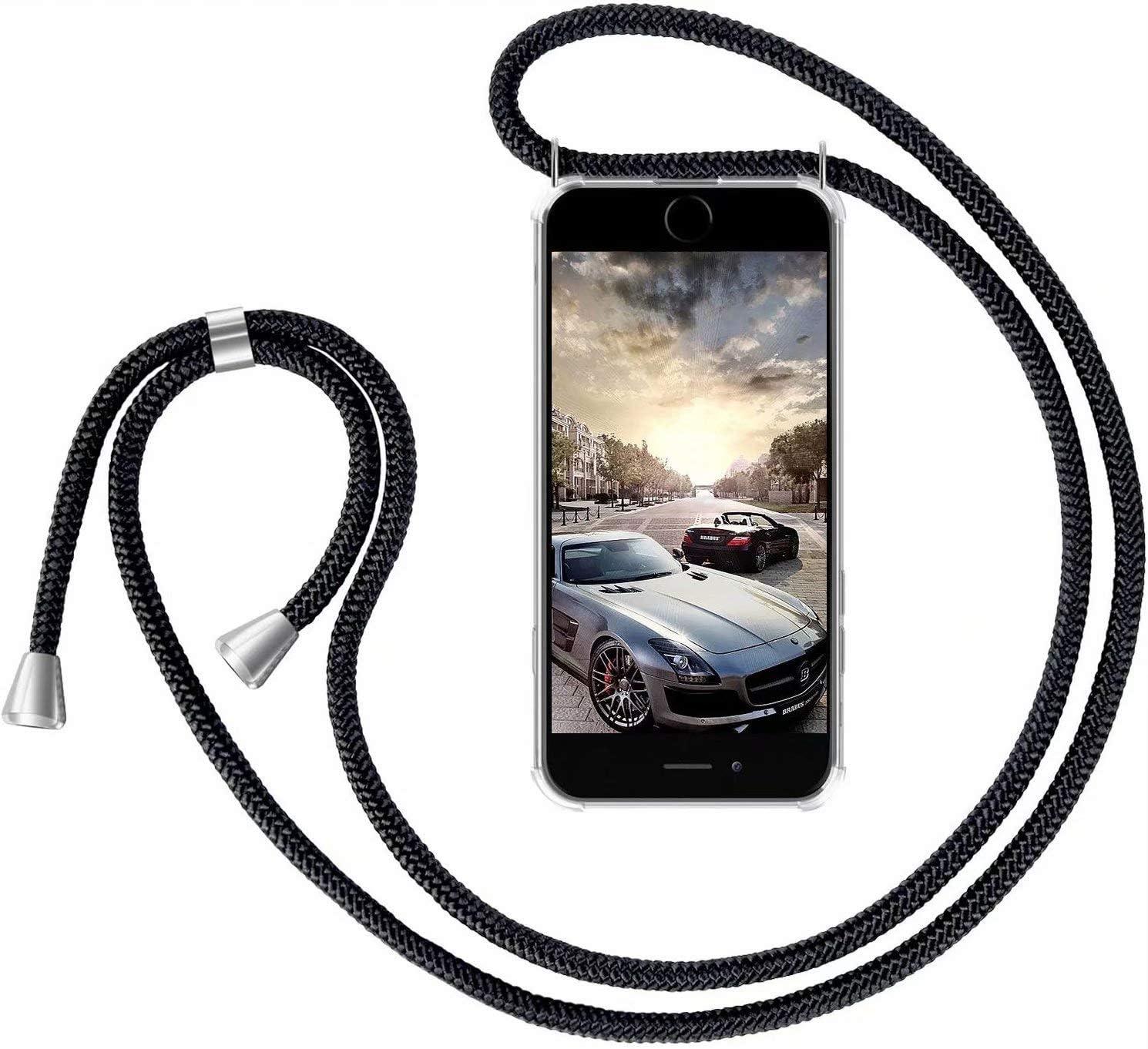 XINYUNEW Funda con Cuerda para Huawei P Smart 2019/Honor 10 Lite- Funda Colgante para movil Carcasa - Colgar movil Cuello Funda con Correa Colgante con Cordon para Llevar en el Cuello