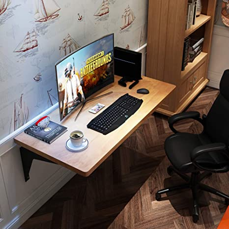 Groovy Need Heavy Duty Wall Mounted Computer Desk Floating Table Dining Table Floating Desk Garage Workbench Sewing Table 1 5 Thick Soild Hard Wood Tabletop Machost Co Dining Chair Design Ideas Machostcouk