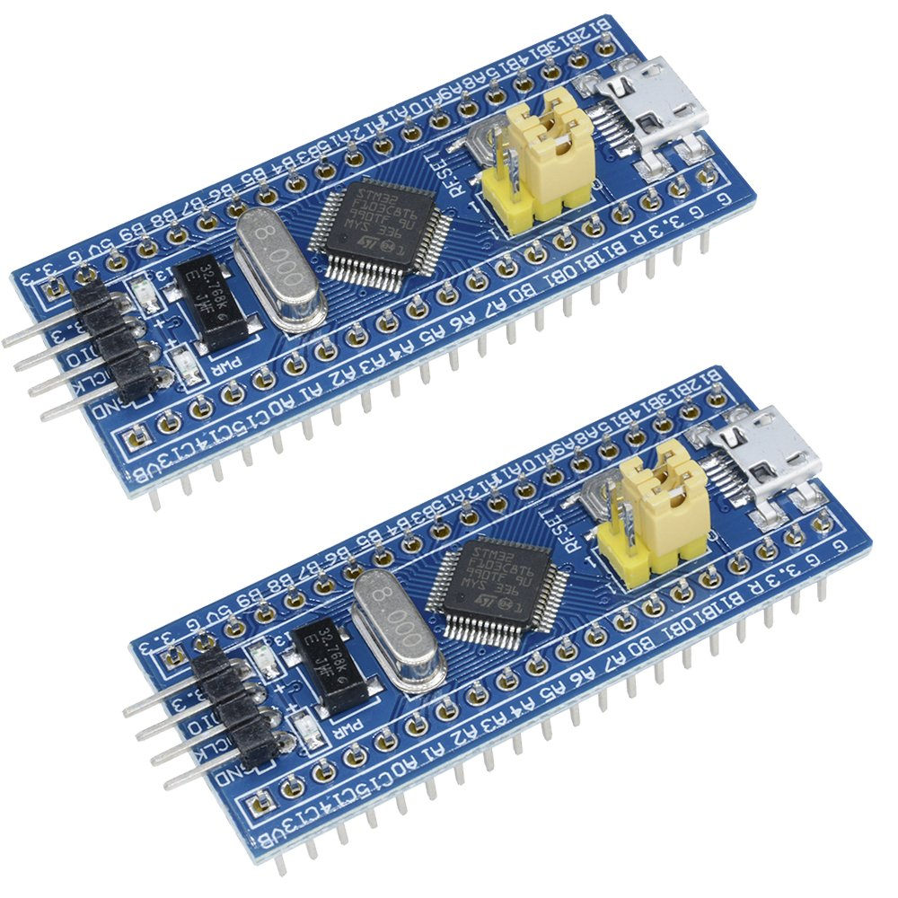 Aideepen 2pcs 40pin STM32F103C8T6 ARM STM32 SWD Minimum System Board Micro USB Development Learning Board Module for Arduino