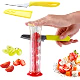 Strawberry Slicer, Grape Slicer, Small Tomato Small Tomato Cherry Cherries Cutter, <br>Fruit Salad Making Pizza Fruit Dispens