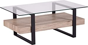 SEI Furniture Granstead Coffee Table, Natural, Black