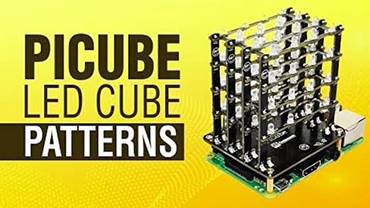 Assembled PiCube 4x4x4 LED CUBE for Raspberry Pi 3,2 Zero and A GREEN
