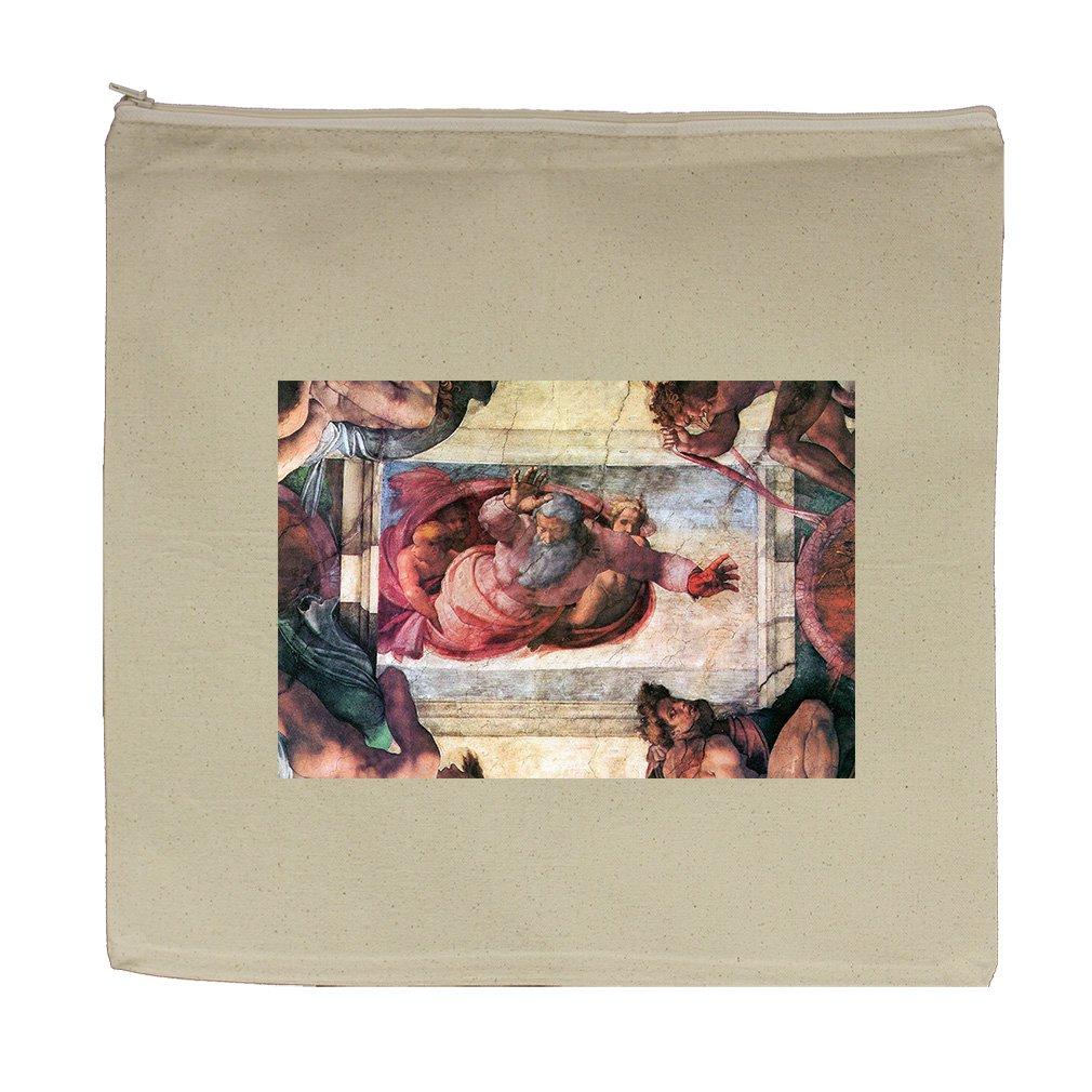 Creation Of Marine Animals (Michelangelo) Canvas Zipper Tote Bag Makeup Bag