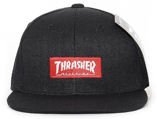 5d7ea4917b0b2 THRASHER スラッシャー キャップ 帽子 スナップバック ボックスマグロゴ刺繍 (17TH-C54) O
