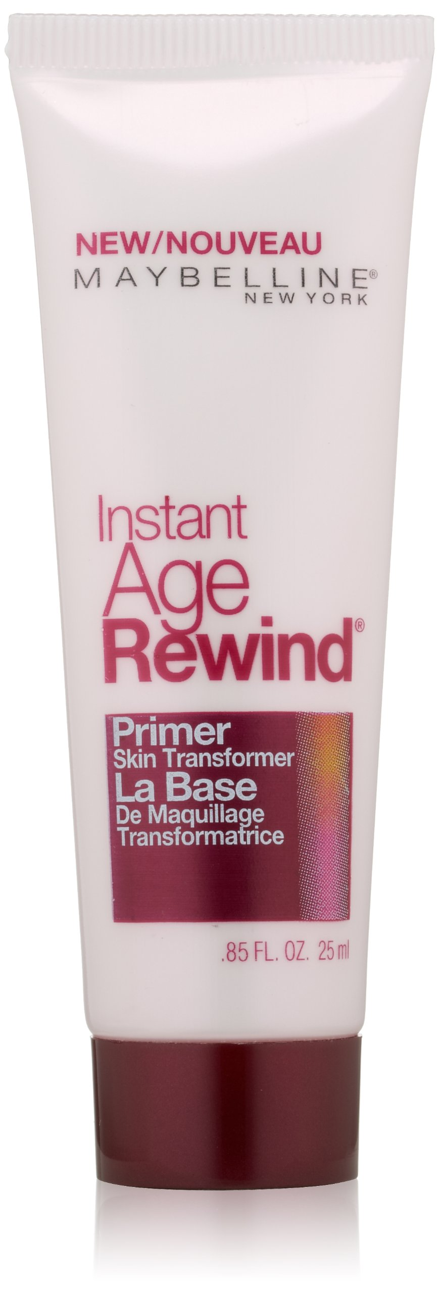 Maybelline New York Instant Age Rewind Primer Skin Transformer, Clear, 0.85 Fluid Ounce