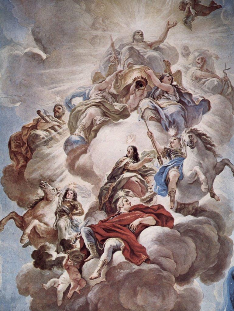 Lais Puzzle Luca Giordano - Triumph der Medici in Den Wolken des Olymp 2000 Teile