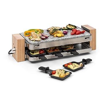 Klarstein Prime-Rib Raclette con Piedra Natural • Raclette-Barbacoa • Barbacoa de Fiestas