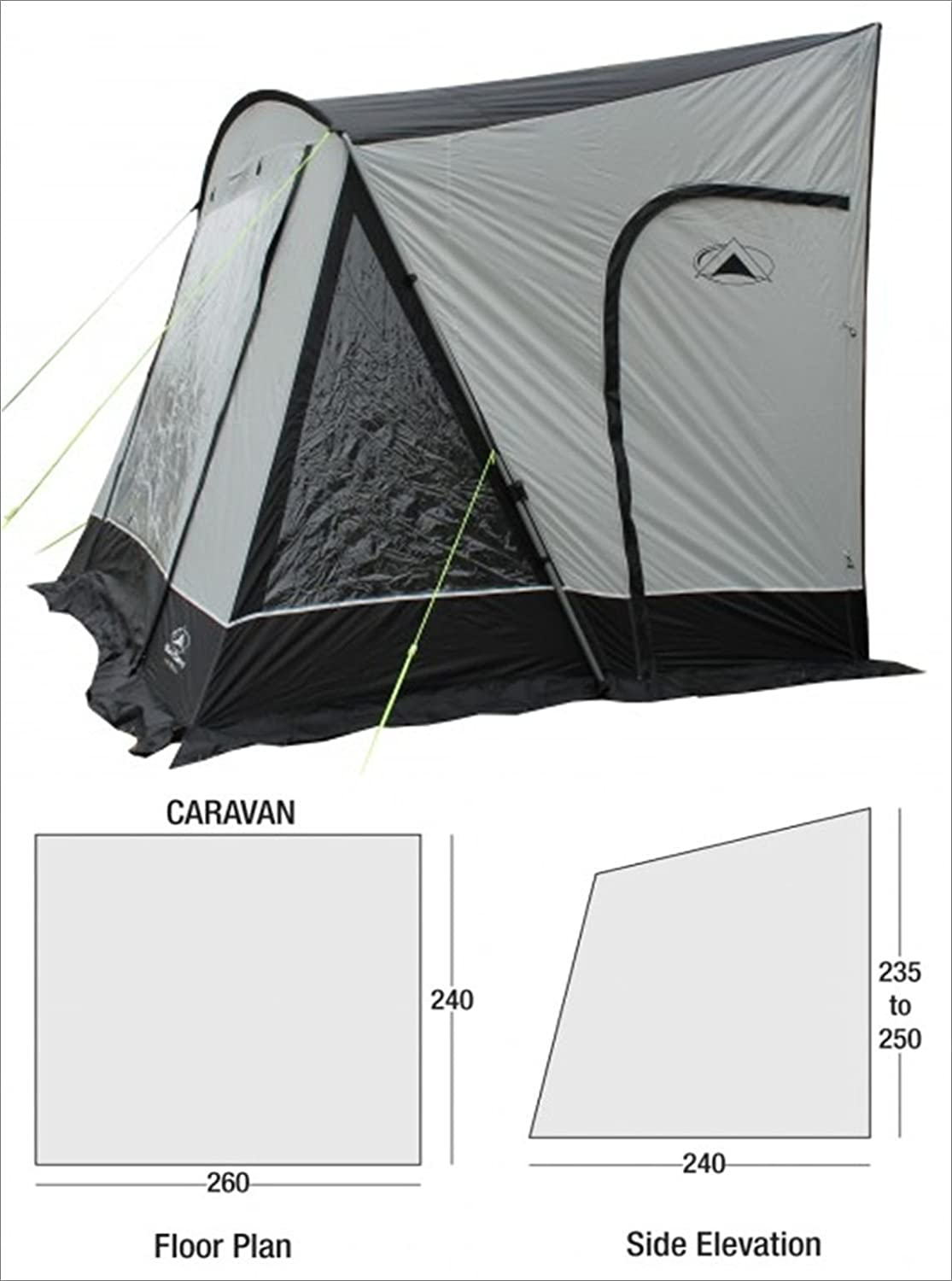Sunncamp Swift 260 Deluxe Awning 2015 Amazoncouk Sports Outdoors