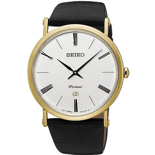 Seiko Reloj Analógico para Mujer de Cuarzo con Correa en Cuero SXB432P1: Amazon.es: Relojes