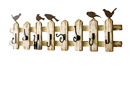 Kalalou White And Brown 40Inch Picket Fence Coat Rack With Eight Extraordinary Picket Fence Coat Rack