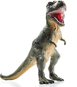 Prextex Giant 21 Inch Dinosaur T-Rex Soft Jurassic Educational Dinosaur Action Figure, Great Dinosaur Party Prop or Toy for Toddler Dinosaur Lover